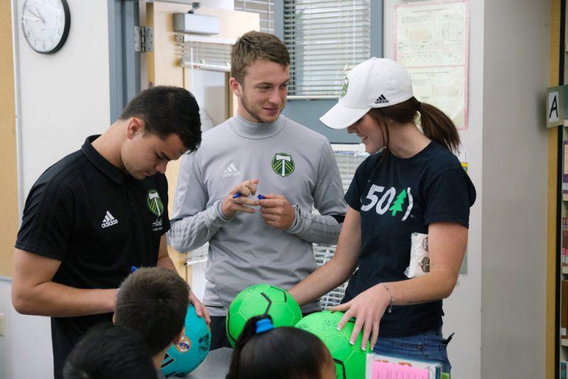 Hallman Students with Timbers U23 Players